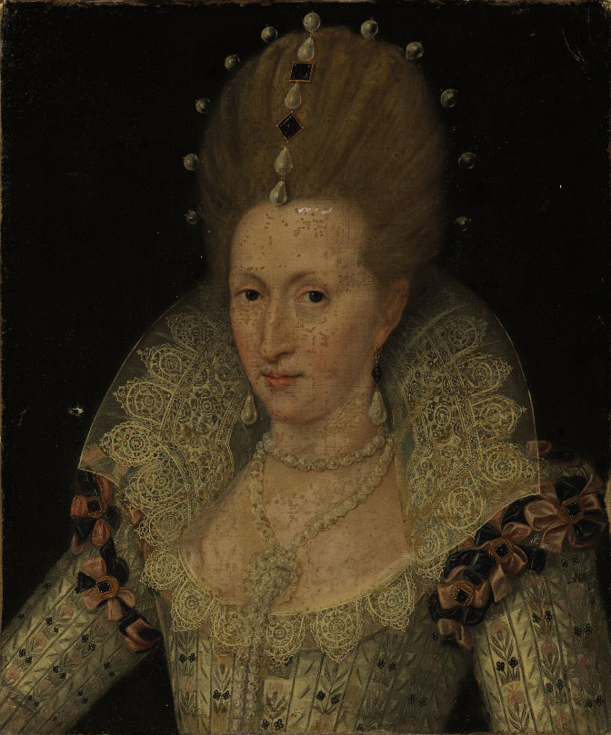 Portrait of Queen Anne of Denmark, bust-length