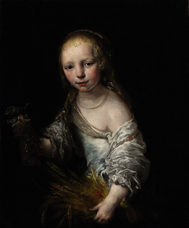 Portrait of a girl as Ceres