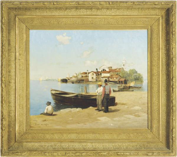 Fishermen in the Lagoon of Venice