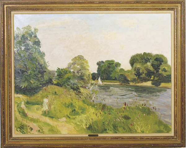 A spring day by the river
