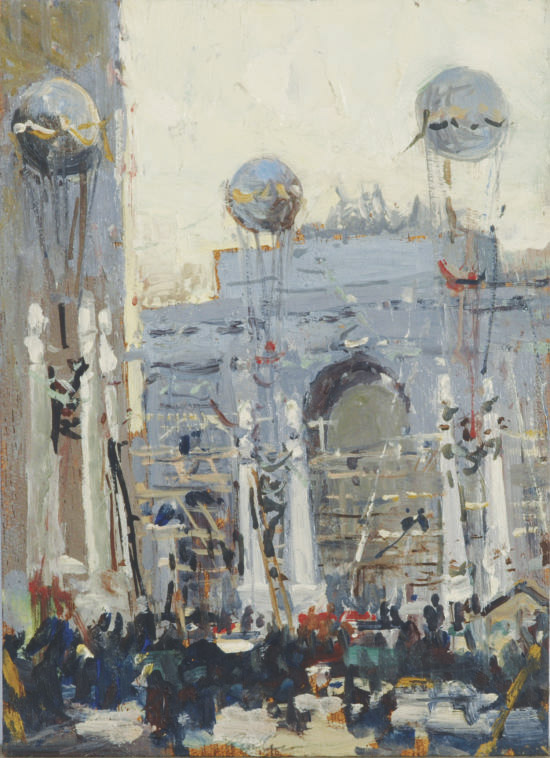 City celebration; and ten companion paintings