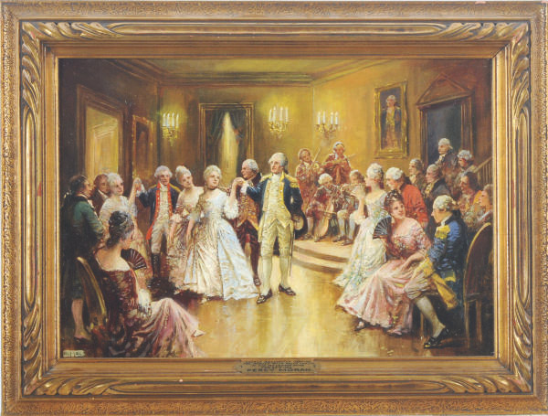 George Washington Dancing the Minuet with Nellie Curtis in his Mt. Vernon Home Feb. 22nd 1777