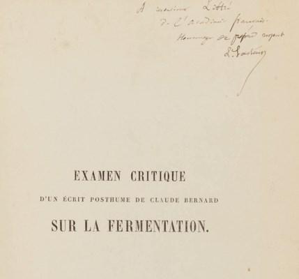 PASTEUR, Louis (1822-1895). Ex