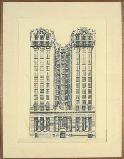 A view of the Emigrant Industrial Savings Bank, New York City