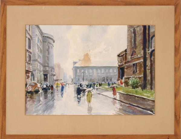 Copley Square, Rain