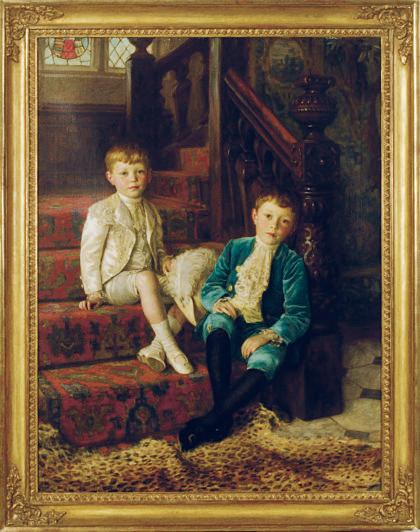 Double portrait of the brothers Bertram and John Leslie Horridge