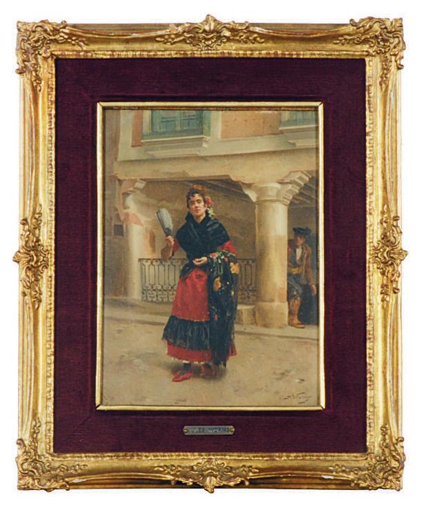 Spanish beauty holding a fan