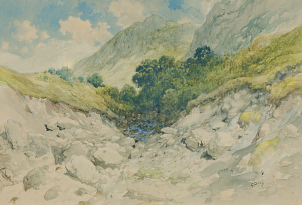 A valley in the mountains