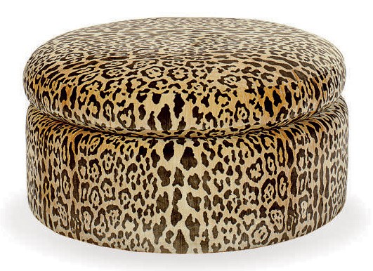 a leopard print plush upholstered circular pouf by de angelis late 20th century christie 39 s. Black Bedroom Furniture Sets. Home Design Ideas