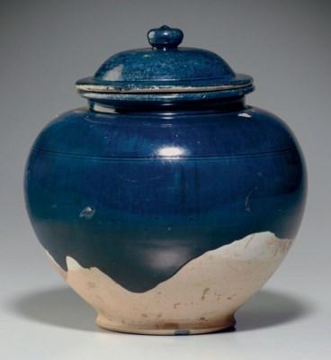 Tang Dynasty Pottery A BLUE-GLAZED POTTERY ...