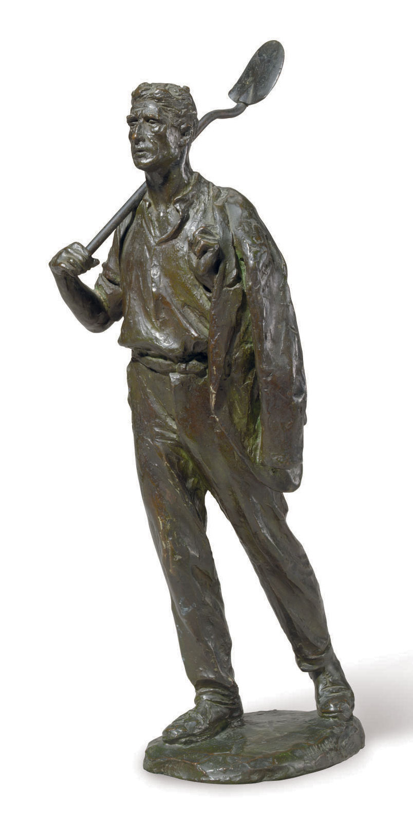 Laborer with Shovel and Coat
