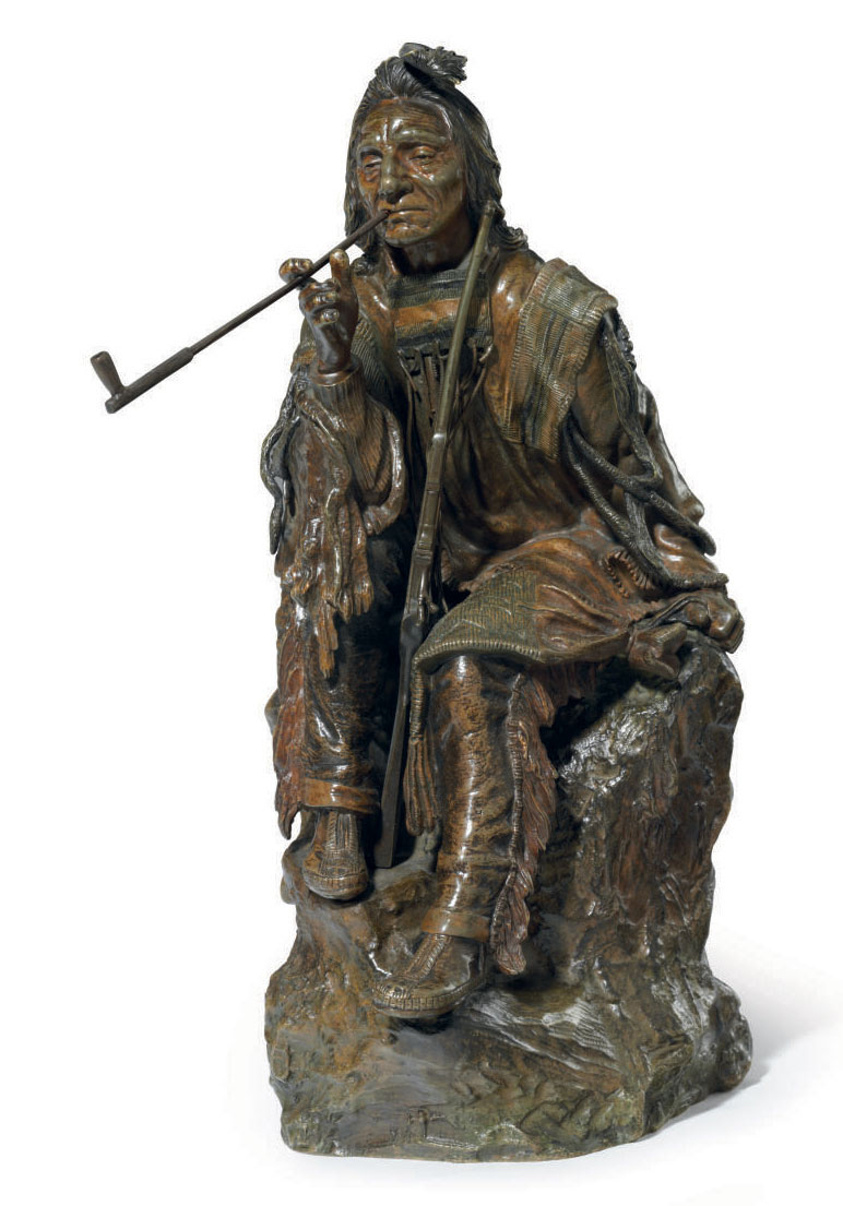 Seated Indian with Pipe
