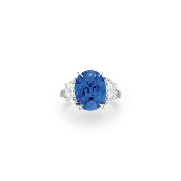 A SAPPHIRE AND DIAMOND RING, BY ALBERTO ALETTO