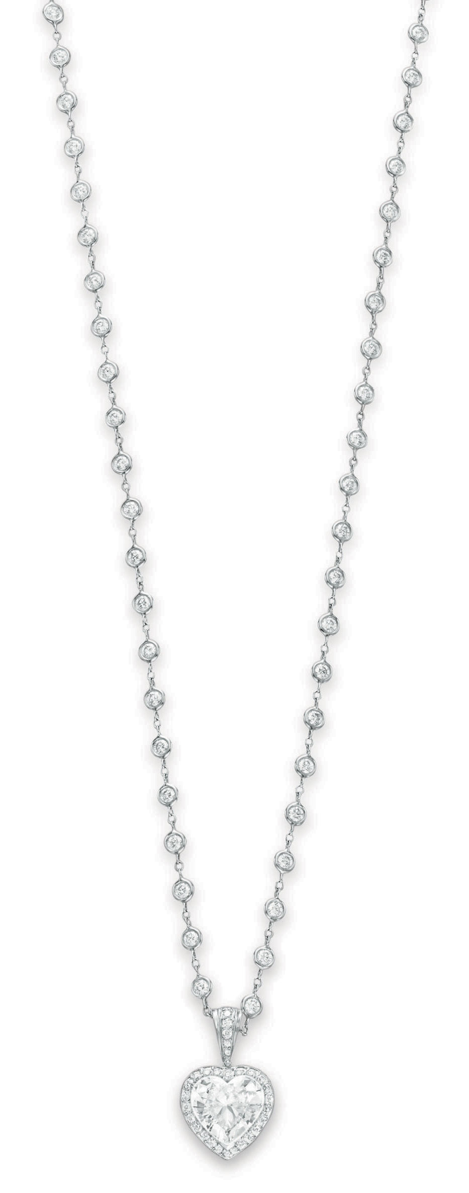 A DIAMOND PENDANT NECKLACE, BY MICHAEL BEAUDRY