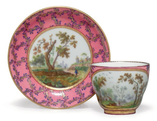 a sevres porcelain rose marbre cup and saucer gobelet 39 hebert 39 et son soucoupe 2 e m e. Black Bedroom Furniture Sets. Home Design Ideas