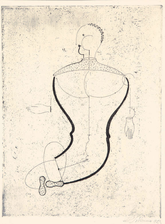 Abstrakte Figur, nach links (Figur S), from Meistermappe des Staatlichen Bauhauses (Grohmann R 1; Weber 6.7)