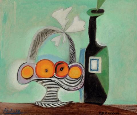 Pablo Picasso (1881-1973) | Nature morte. Corbeille de fruits et ...