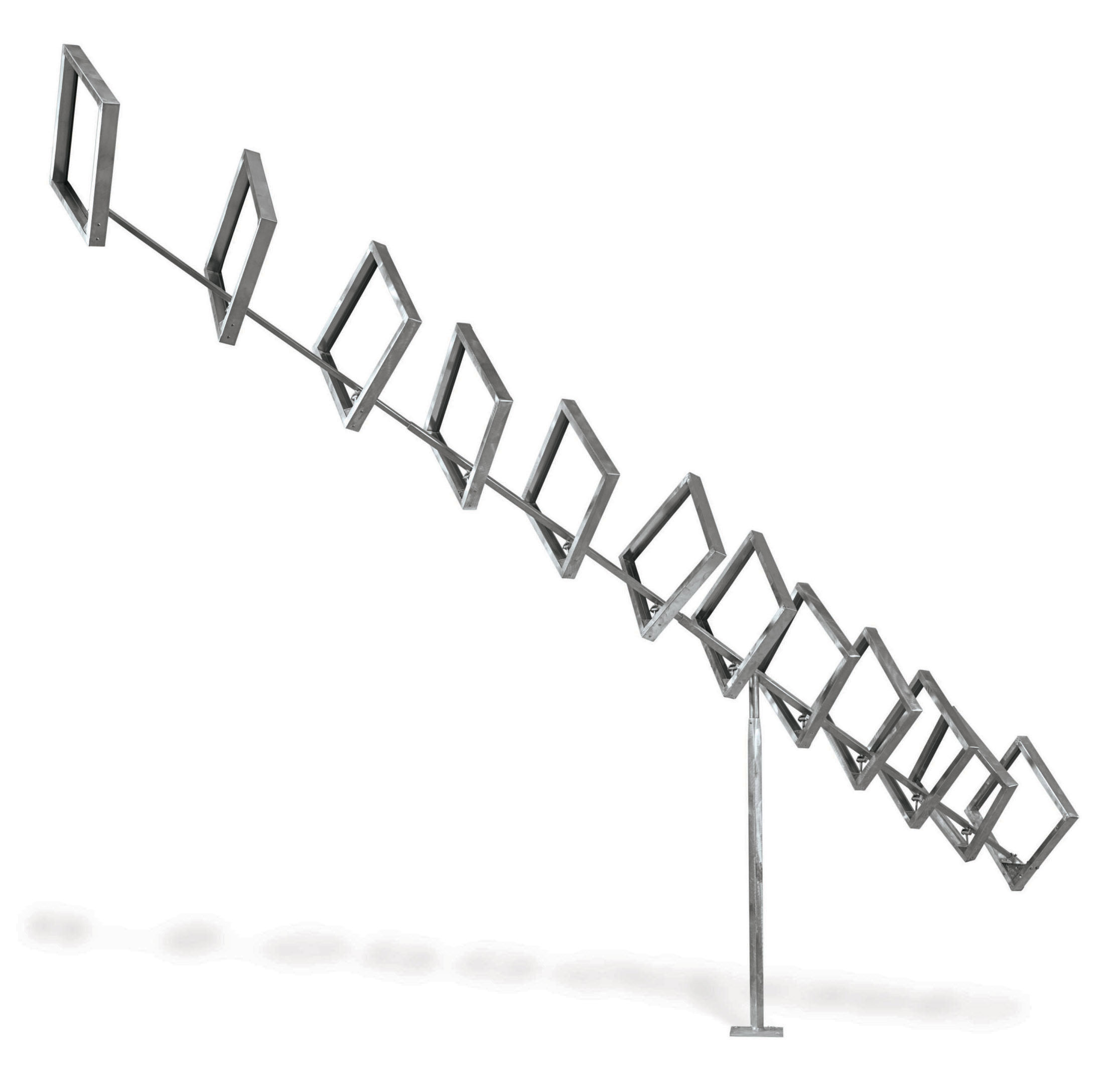 Oblique Column of Twelve Open Squares