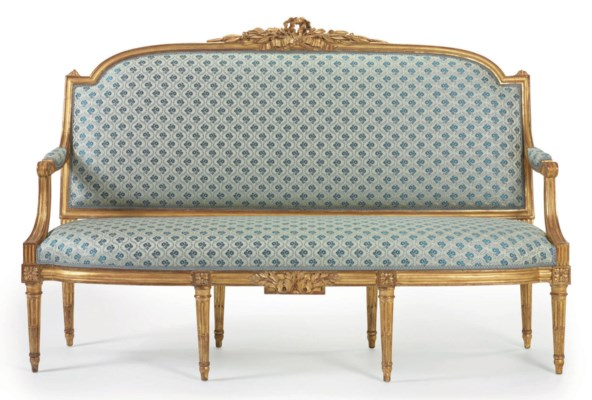 a louis xvi giltwood canape circa 1780 christie 39 s. Black Bedroom Furniture Sets. Home Design Ideas
