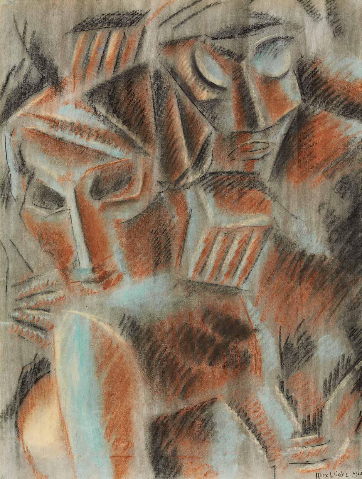 Two Sculpturesque Heads
