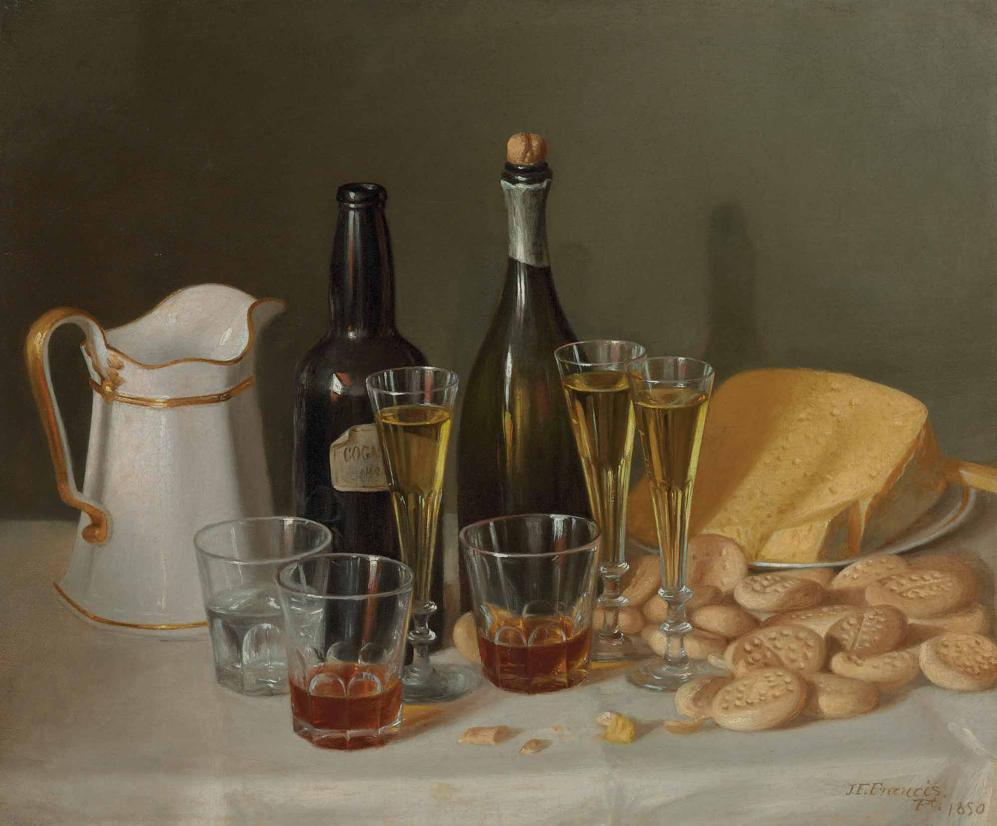 Still Life with Cheese and Wine