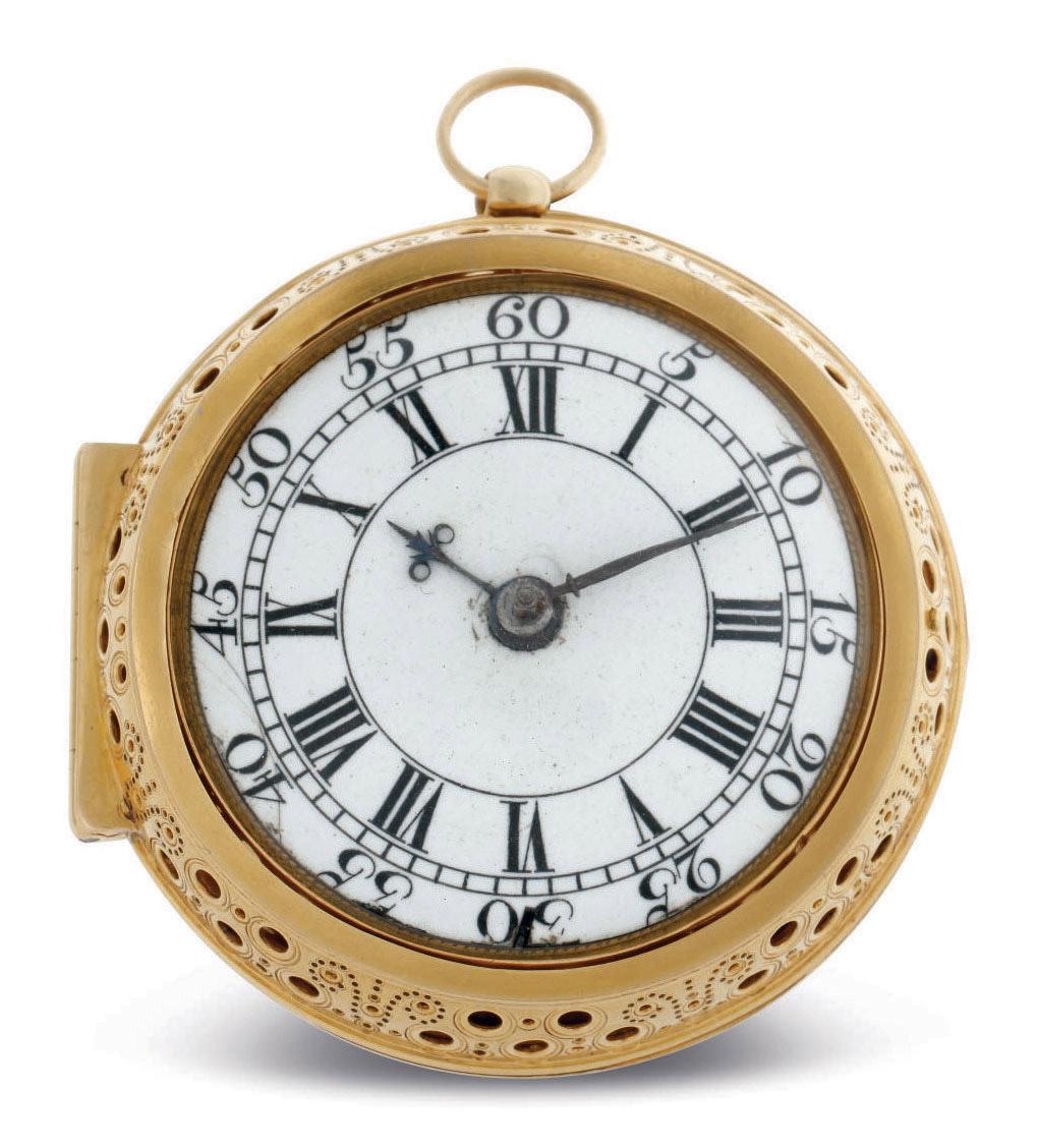 THOMAS WINDMILLS. A GOLD PAIR CASE GOLD VERGE CLOCKWATCH