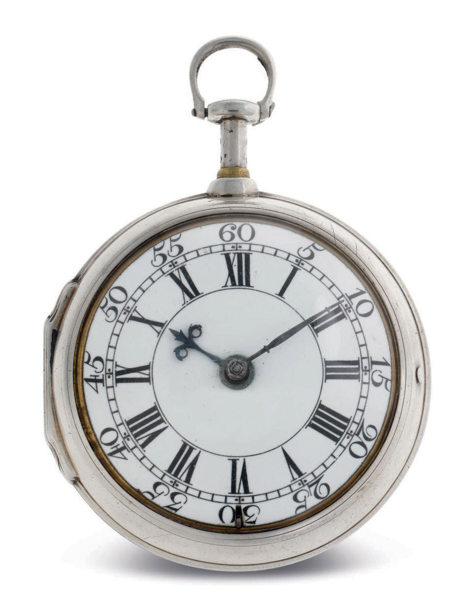 BEN GRAY. A SILVER FIVE-MINUTE DUMB REPEATING CONSULAR-CASED VERGE WATCH