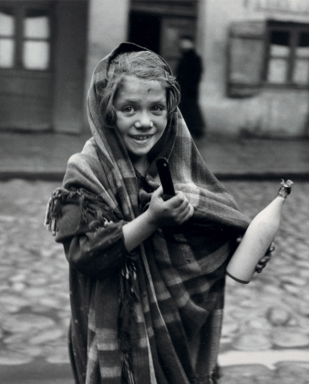 Father earned today some money and daughter is sent for milk, 1937