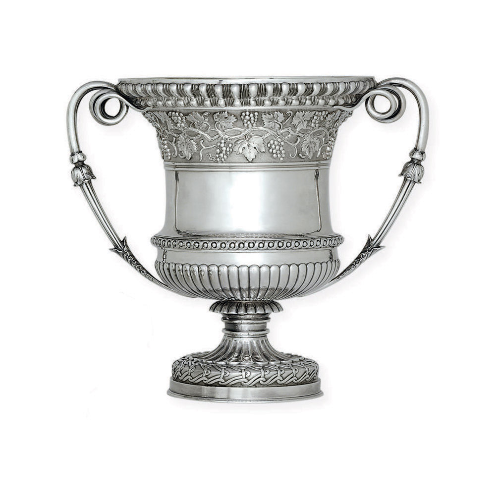 A VICTORIAN SILVER WINE COOLER