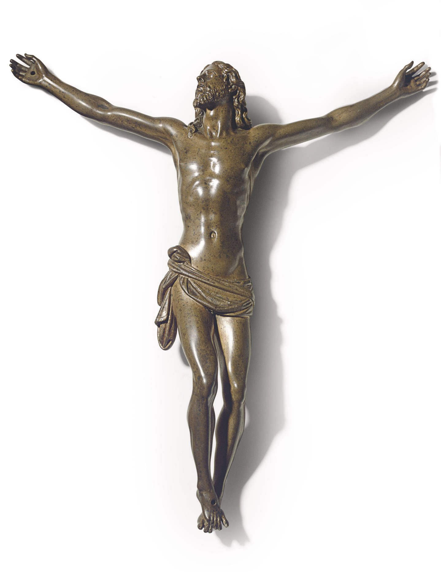 A BRONZE FIGURE OF THE CRISTO VIVO