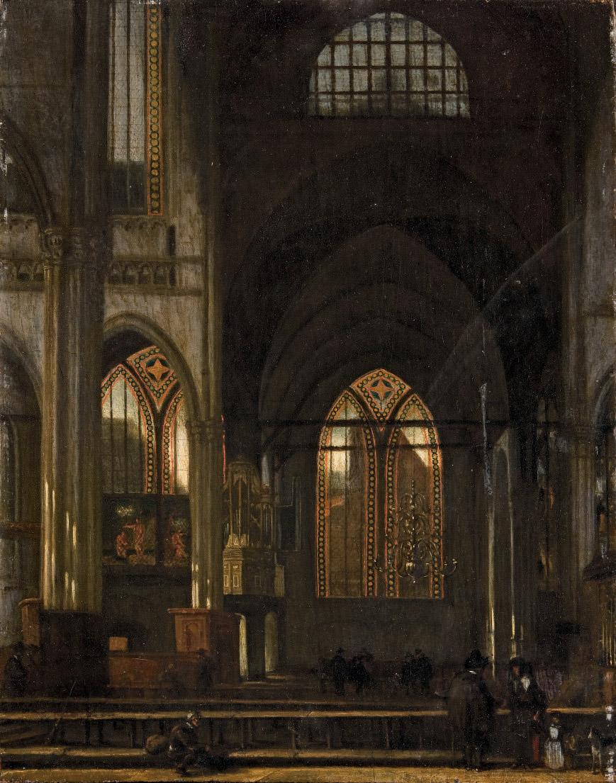 Le transept de la Oude Kerk à Amsterdam