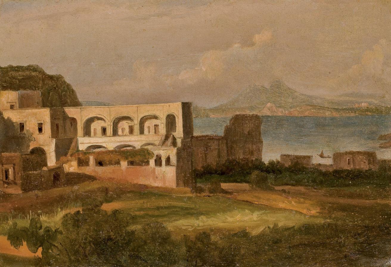 Vue de l'île d'Ischia avec la baie de Naples