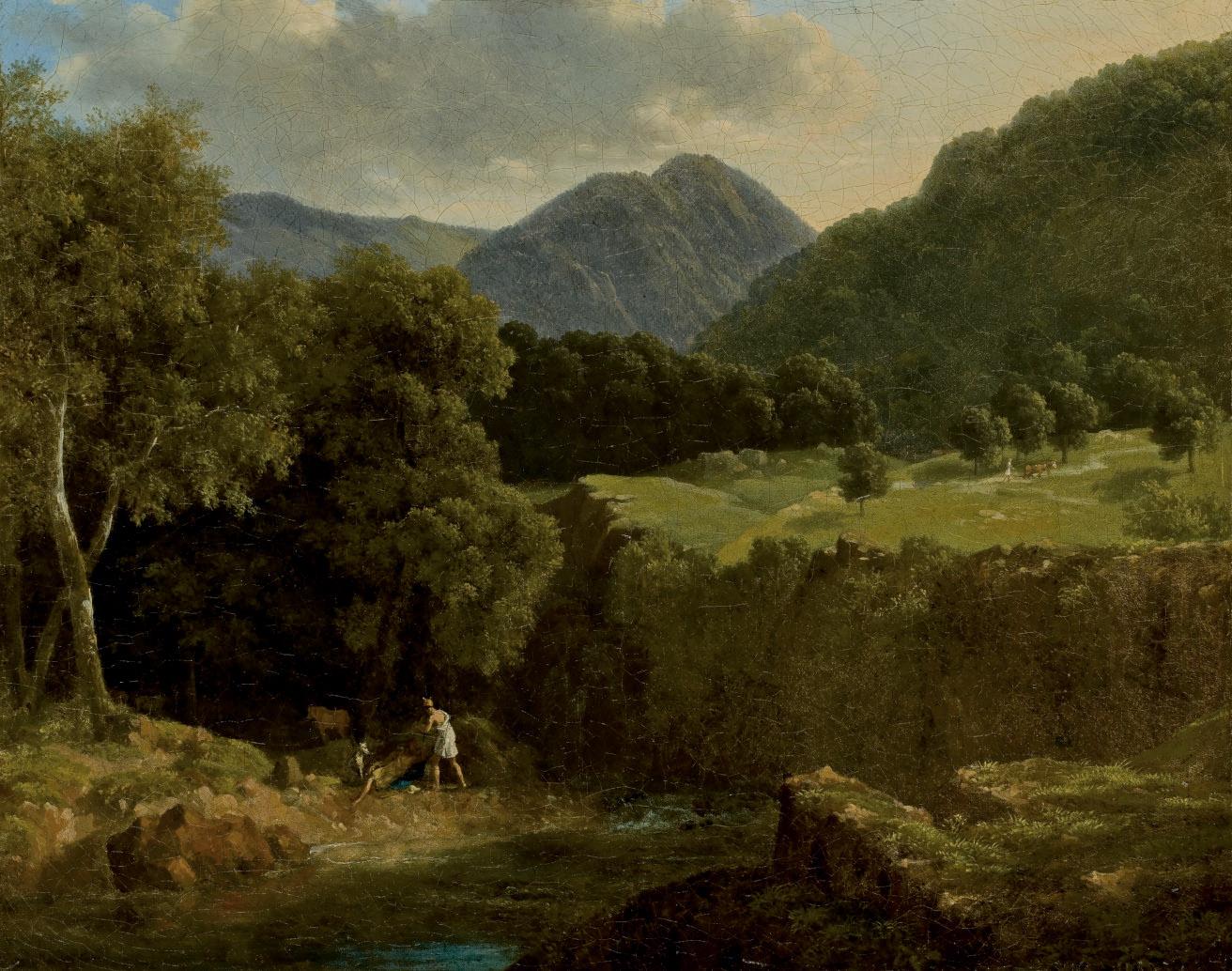 Psyché et Pan dans un paysage