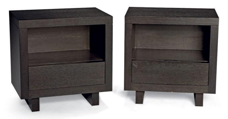 Christian liaigre paire de tables de chevet christie 39 s - Table de chevet haute ...