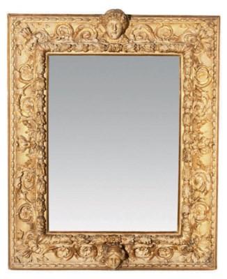 miroir de style baroque travail italien du xixeme siecle. Black Bedroom Furniture Sets. Home Design Ideas