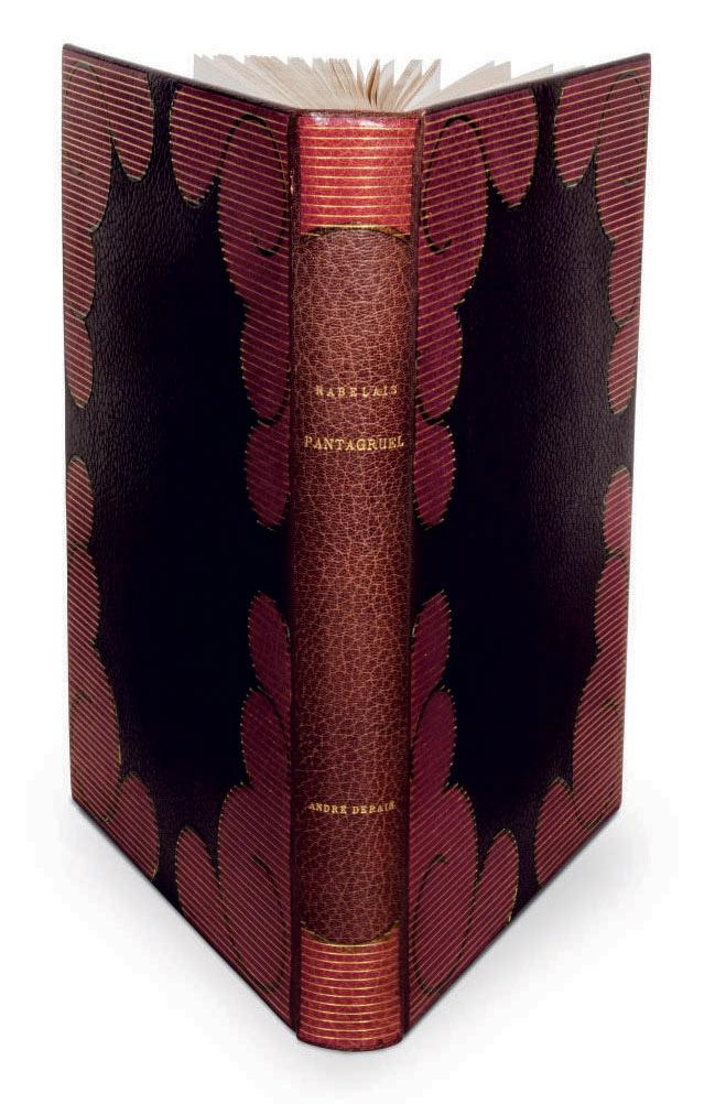 [DERAIN] -- RABELAIS, François (1494-1553). Les Horribles et espouvantables faictz et prouesses du très renommé Pantagruel... Orné de bois en couleurs dessinés et gravés par André Derain. Paris: Skira, [1943].