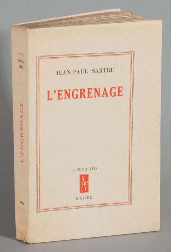 SARTRE, Jean-Paul (1905-1980). L'Engrenage. Paris: éditions Nagel, 1948.