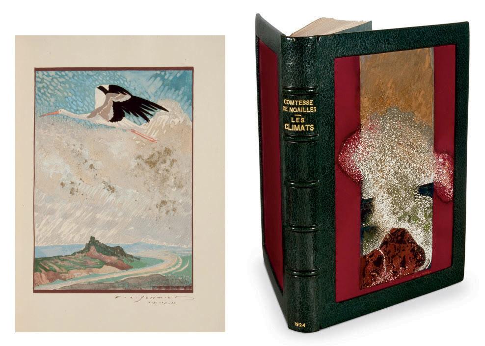 [SCHMIED] -- NOAILLES, comtesse Anna de (1876-1933). Les Climats. Paris: Société du livre contemporain, 1924.