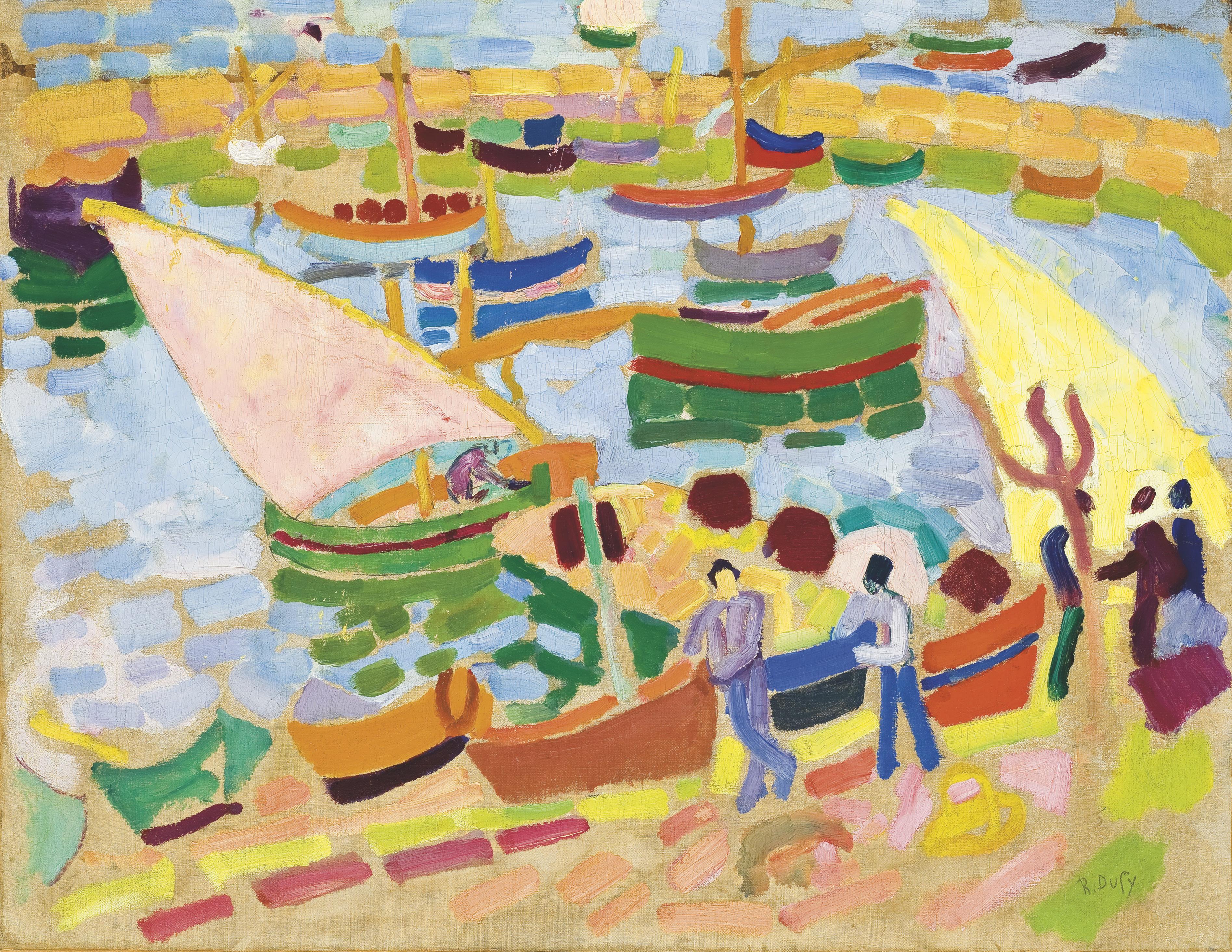 Voiliers et barques dans le port