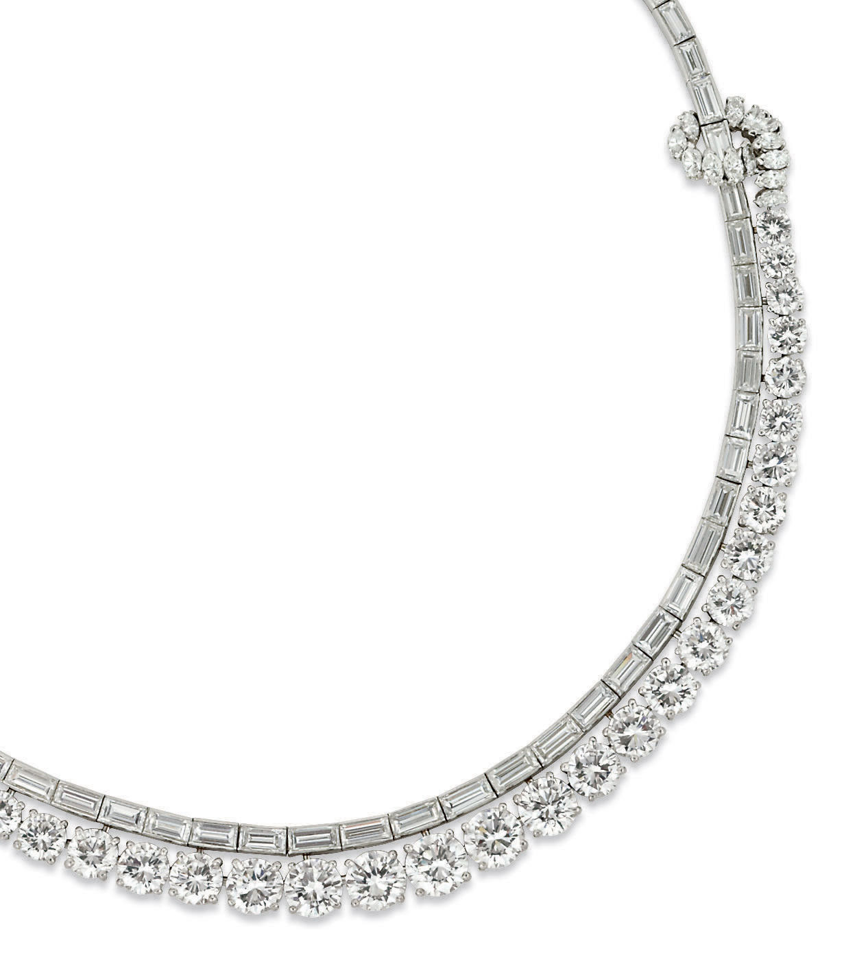 COLLIER DIAMANTS, PAR FONTANA