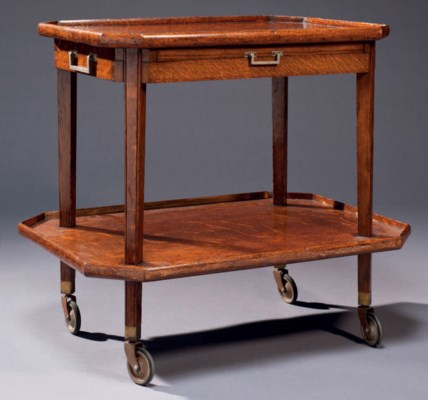 table desserte roulante   vers 1950   table ambulante, furniture