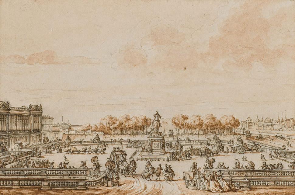 La place Louis XV en 1770
