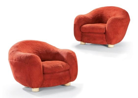 jean royere 1902 1981 paire de fauteuils 39 boule 39 le modele cree en 1947 christie 39 s. Black Bedroom Furniture Sets. Home Design Ideas