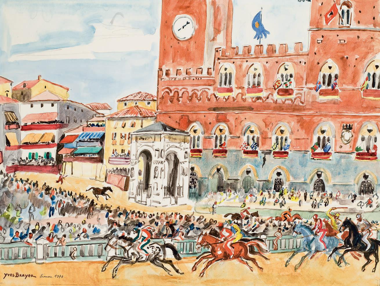 La course du Palio à Sienne