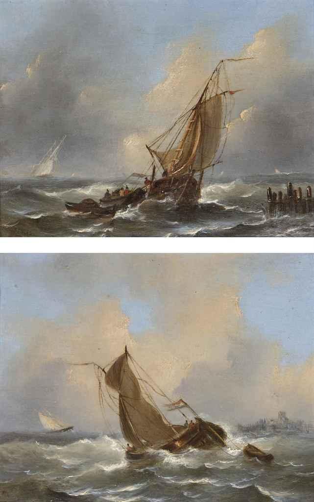 Sailing of the Dutch coast