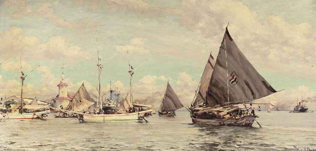 Shipping in the habour of Surabaya