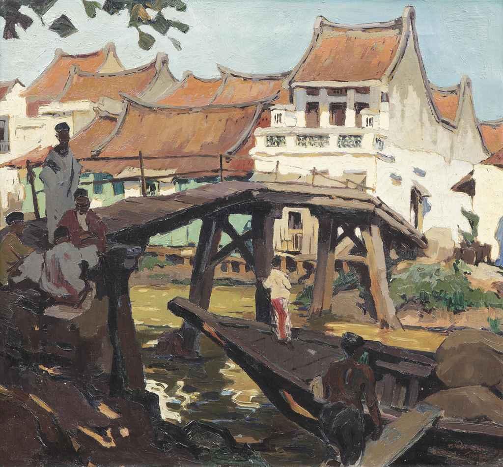 Bridge in old Batavia