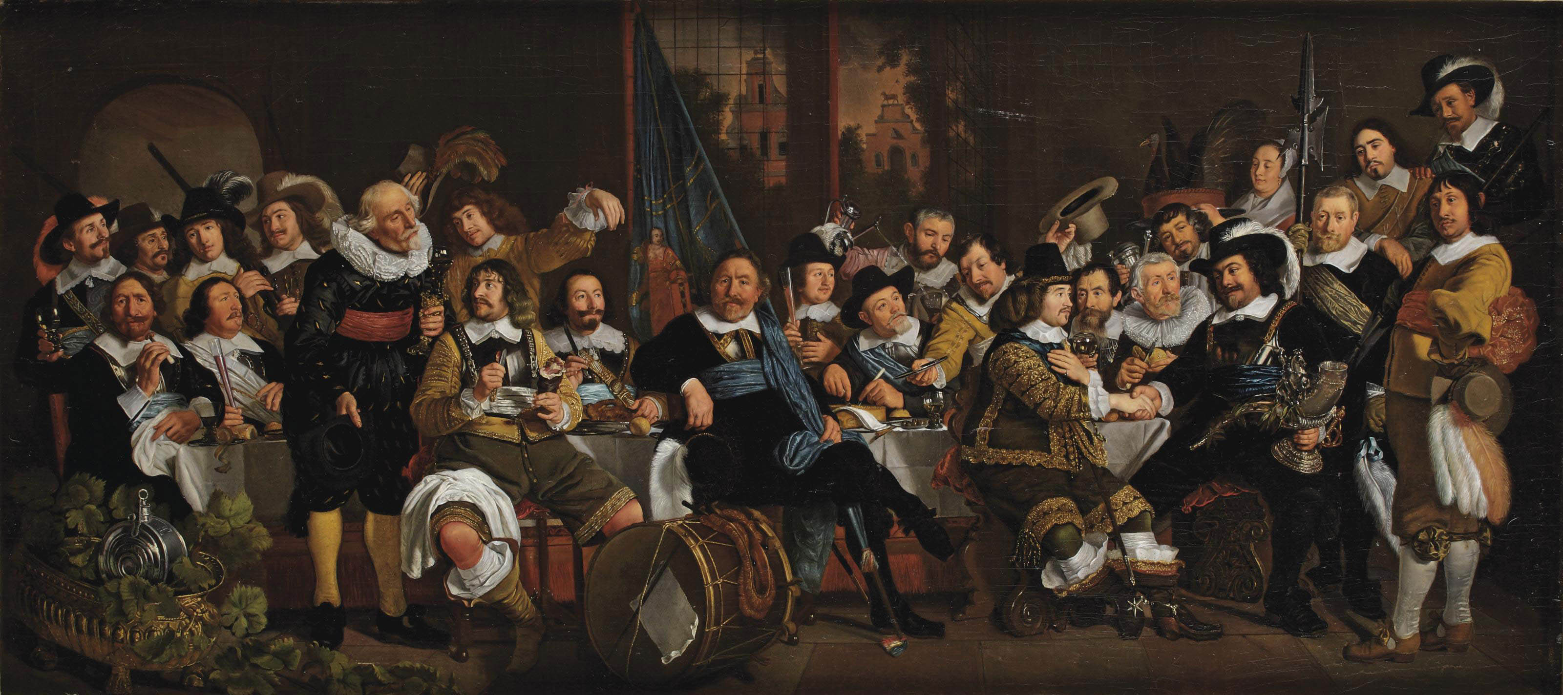 The Celebration of the Peace of Münster, 18 June 1648, in the headquarters of the Crossbowmen's Civic Guard (St. George Guard), Amsterdam