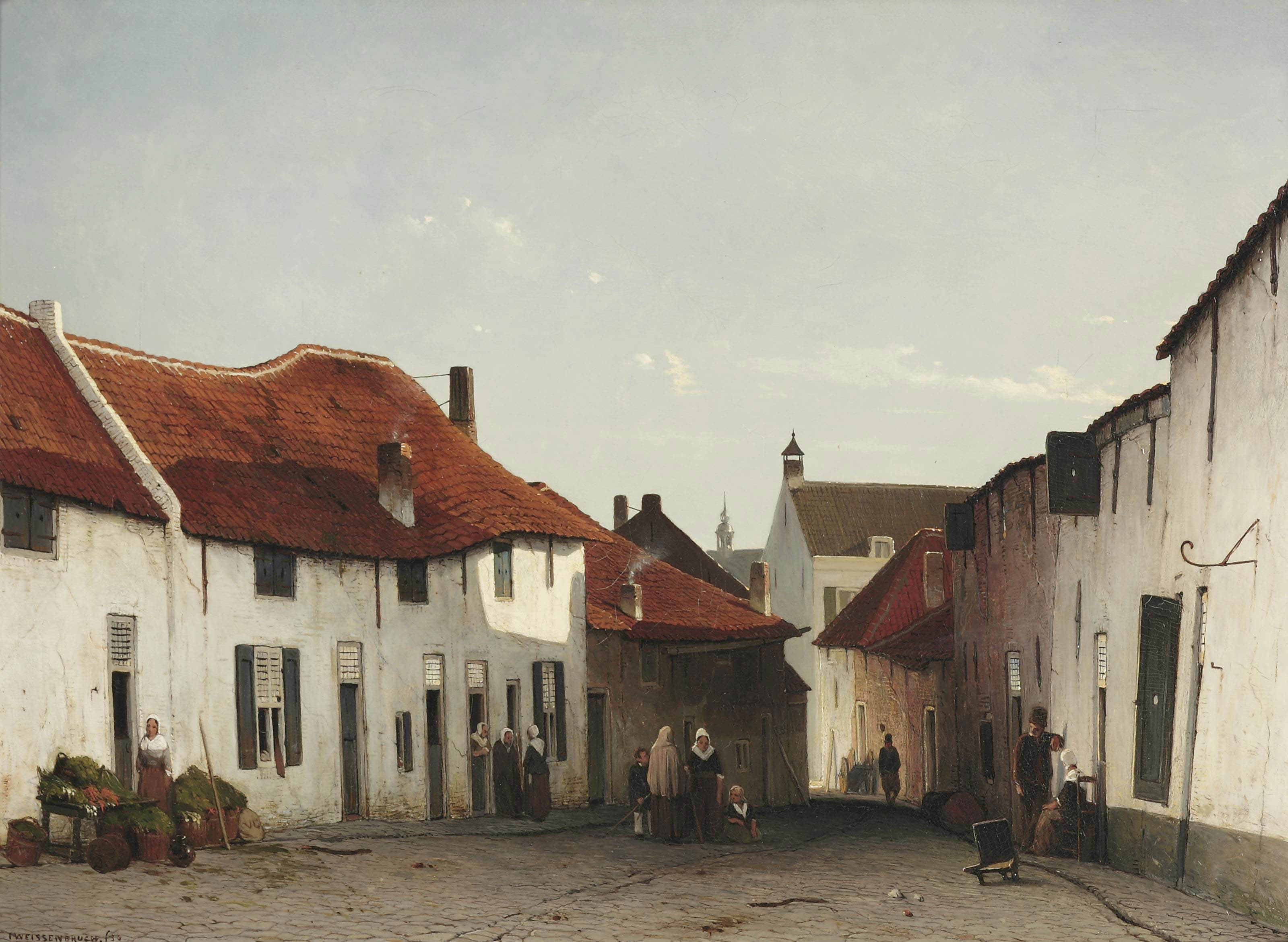 'Het straatje': daily activities in a village street