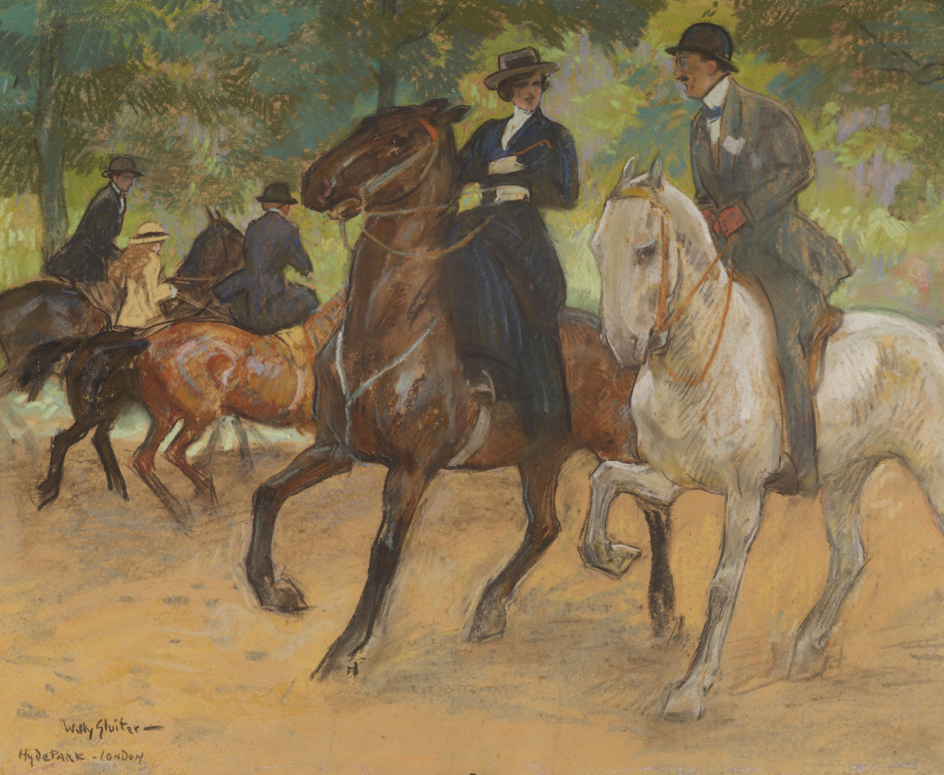 Horse riding in Hyde Park, London